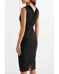 Altuzarra - Black Adriana Lace-up Velvet-trimmed Crepe Dress - Lyst