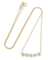 Jennifer Meyer - Metallic 18-karat Gold, Diamond And Turquoise Necklace - Lyst