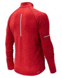 New Balance - Red J.crew Nb Heat Half Zip for Men - Lyst