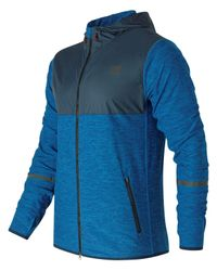 New Balance - Blue N Transit Hoodie for Men - Lyst