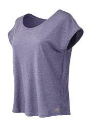 New Balance - Purple Cotton Tee - Lyst