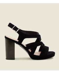 2f5b853c0b6 New Look Wide Fit Black Suedette Strappy Platform Sandals in Black ...