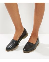 New Look | Black Leather Contrast Sole Pumps | Lyst