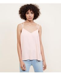New Look - Pale Pink Cross Back Cami - Lyst