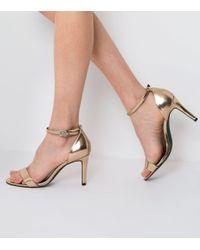 ef9d8b584e5 New Look. Women s Wide Fit Rose Gold Metallic Ankle Strap Heels