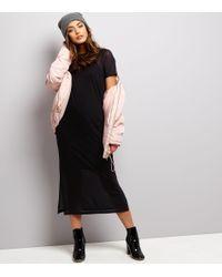 New Look - Black Mesh Midi Dress - Lyst