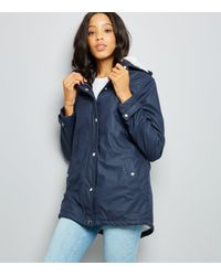 f08ef14ed4b New Look Tall Navy Borg Lined Anorak in Blue - Lyst