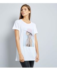 New Look White Lady Gaga Photo T Shirt In White Lyst