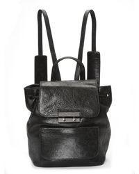 Nicole Miller | Black Legend Leather Backpack | Lyst