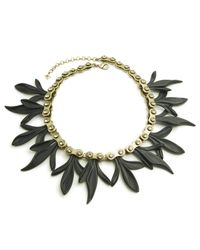 "Nicole Miller | Metallic Matte Resin Chain Gear Petal 18"" Necklace 