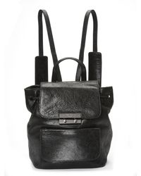 Nicole Miller - Black Legend Leather Backpack - Lyst