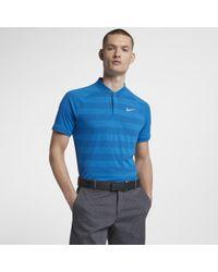 671446de89 Nike Zonal Cooling Momentum Men's Slim Fit Golf Polo Shirt in Blue ...