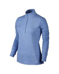 Nike | Blue Dry Element Women's Long Sleeve Running Top | Lyst