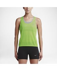 Nike - Green Run Fast Women's Running Tank Top - Lyst