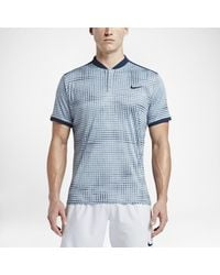 cfed61cd3 Nike Court Advantage Men's Graphic Tennis Polo Shirt in Blue for Men ...