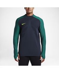 bb400b8e0 Nike Strike Aeroswift Men's 1/4 Zip Soccer Drill Top in Blue for Men ...