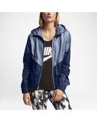 cf69e6bfb5 Lyst - Nike Sportswear Windrunner Women s Jacket in Blue