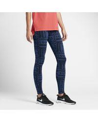 Nike | Blue Sportswear Leg-a-see (rostarr) Women's Printed Leggings | Lyst