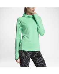 Nike | Green Dry Element Women's Long Sleeve Running Top | Lyst