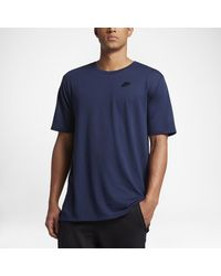 Nike - Blue Sportswear Droptail Bonded Mesh Men's T-shirt for Men - Lyst