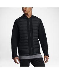 6fe29b4a0 Nike Sportswear Tech Fleece Aeroloft Men's Down Bomber in Black for ...