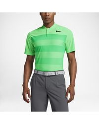 77261243cf27a Nike Tw Zonal Cooling Stripe Blade Men's Standard Fit Golf Polo ...