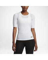 Nike | White Pro Hypercool Women's Short Sleeve Training Top | Lyst