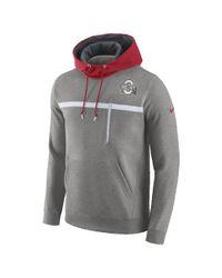 Nike - Gray College Championship Drive Av15 Fleece (ohio State) Men's Pullover Hoodie for Men - Lyst