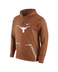 Nike | Orange College Vapor Speed Fleece (texas) Men's Hoodie for Men | Lyst