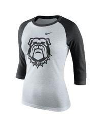 Nike | Multicolor College Tri Raglan (georgia) Women's 3/4 Sleeve T-shirt | Lyst