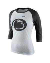 Nike | Multicolor College Tri Raglan (penn State) Women's 3/4 Sleeve T-shirt | Lyst