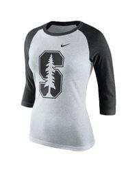 Nike | Black College Tri Raglan (stanford) Women's 3/4 Sleeve T-shirt | Lyst