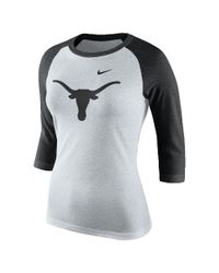 Nike | White College Tri Raglan (texas) Women's 3/4 Sleeve T-shirt | Lyst