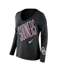 Nike | Black College Tri Mid V (oklahoma) Women's Long Sleeve T-shirt | Lyst