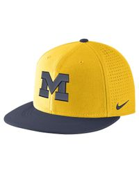 Nike - College Aerobill True (michigan) Adjustable Hat (yellow) for Men - Lyst