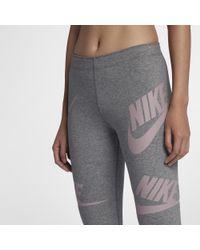 3b49f3e0aad92 Lyst - Nike Sportswear Women's Graphic Leggings in Gray