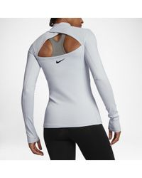 c9151ebde8686 Nike Pro Hyperwarm Women's Long Sleeve Training Top - Lyst
