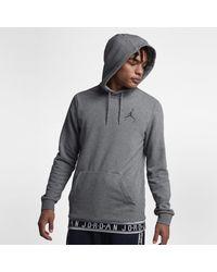 5491ee7e3e63c4 Nike Jordan Jumpman Air Basketball Pullover Hoodie in Gray for Men ...