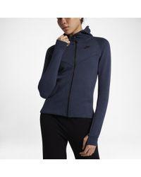 2d594e13344 Lyst - Nike Sportswear Tech Fleece Women s Full-zip Hoodie in Black