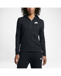 5995ec44b5a8 Lyst - Nike Sportswear Advance 15 Women s Knit Jacket in Black