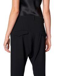 Nili Lotan - Black Crepe Paris Pant for Men - Lyst