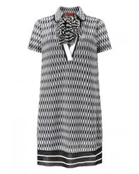 Missoni | Black Zig Zag Knit Shirt Dress | Lyst