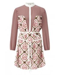 Mary Katrantzou | Pink Ambrosia Printed Silk Dress | Lyst