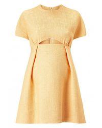 Emilia Wickstead | Metallic Tinker Cut-out Dress | Lyst