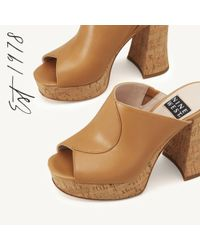 Nine West - Brown Lisana Platform Slide Sandal - Lyst