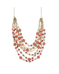 Nine West | Red Multi-strand Necklace | Lyst