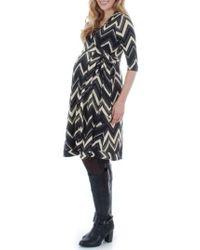 Everly Grey - Black Mila Wrap Maternity/nursing Dress - Lyst