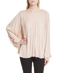 Elizabeth and James - Multicolor Grove Pleated Blouse - Lyst