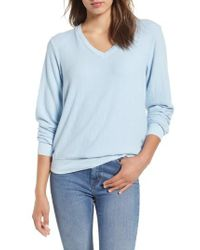 Wildfox - Blue V-neck Pullover - Lyst