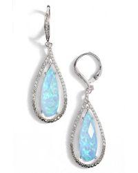 Judith Jack | Blue Teardrop Earrings | Lyst